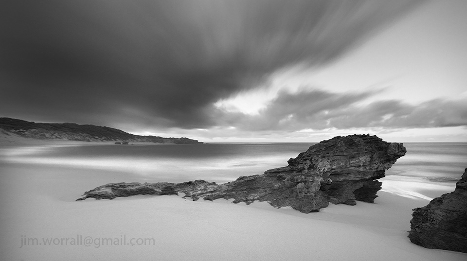 Jim Worrall, Blairgowrie, Mornington Peninsula, long exposure, black and white, seascape