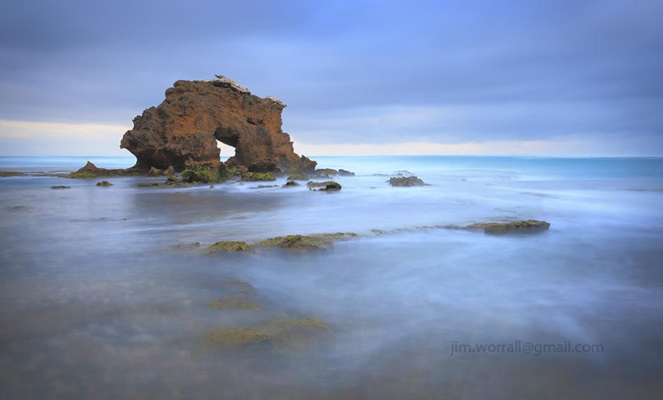 jim worrall, blairgowrie, mornington peninsula, seascape, long exposure