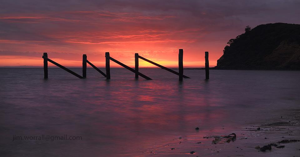 jim worrall, mornington peninsula, sunrise, seascape, long exposure
