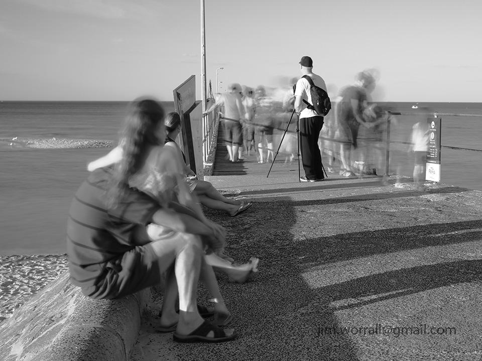 Jim Worrall, Mornington Peninsula, long exposure, Port Phillip Bay, black and white