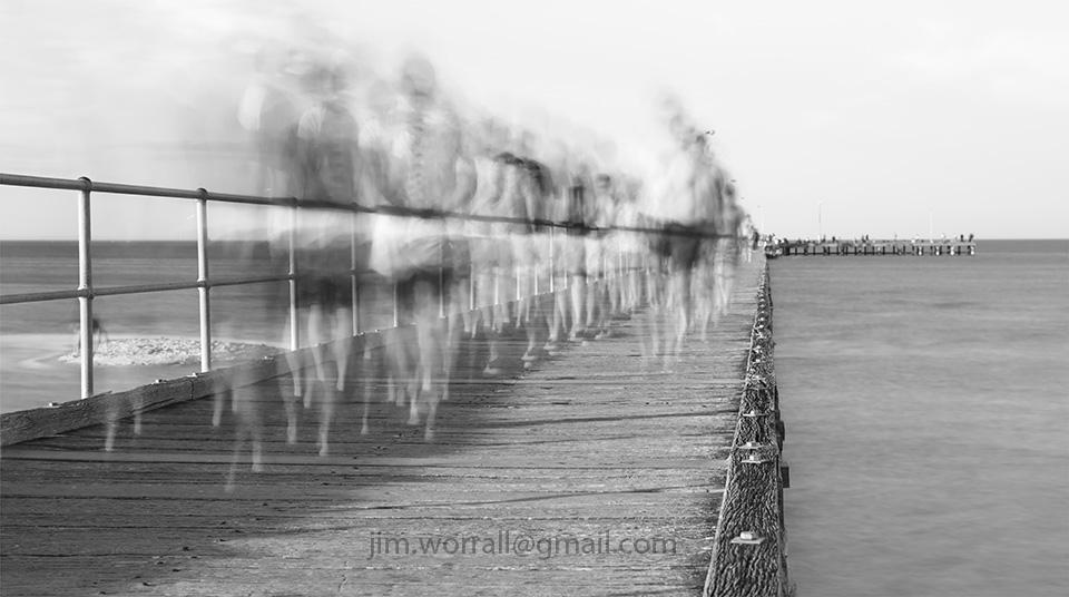 Jim Worrall, long exposure, mornington peninsula, black and white, Port Phillip Bay