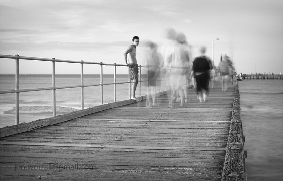 Jim Worrall, Mornington Peninsula, Port Phillip Bay, black and white