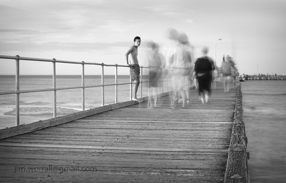Jim Worrall, Mornington Peninsula, Port Phillip Bay, black and white