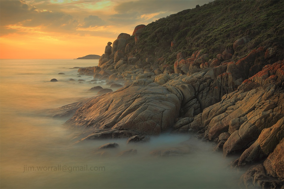 Jim Worrall, long exposure, bass coast, sunset