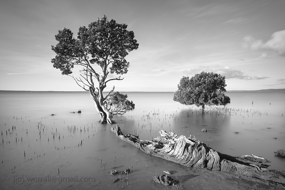 Jim Worrall, Tenby Point, Western Port Bay, long exposure, ND400, seascape, black and white