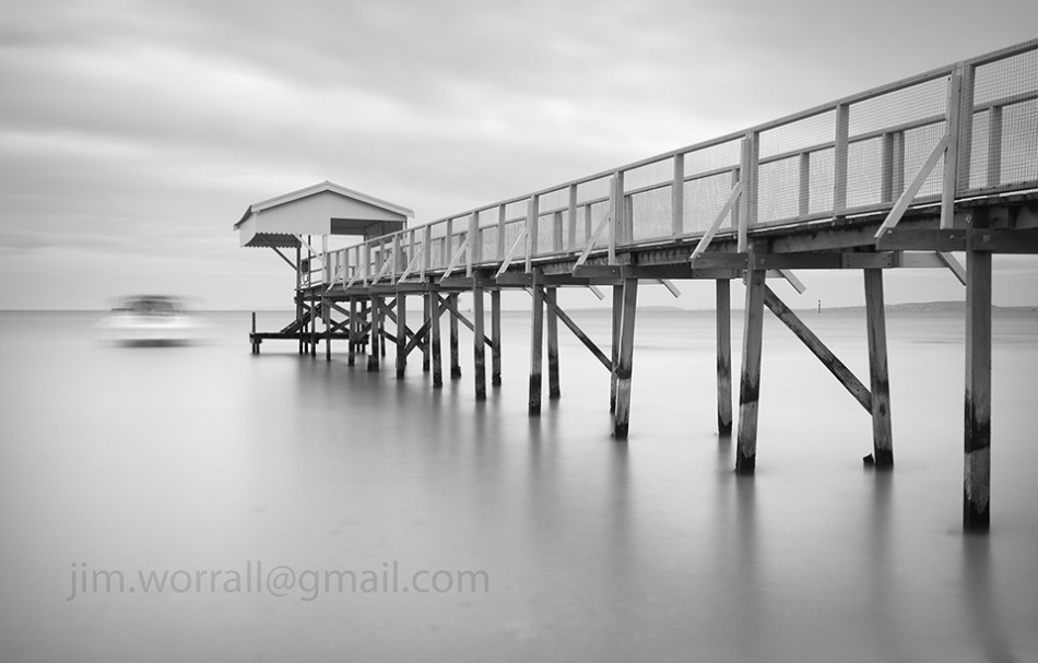 Jim Worrall, Mornington Peninsula, Port Phillip Bay, long exposure, seascape, jetty, black and white