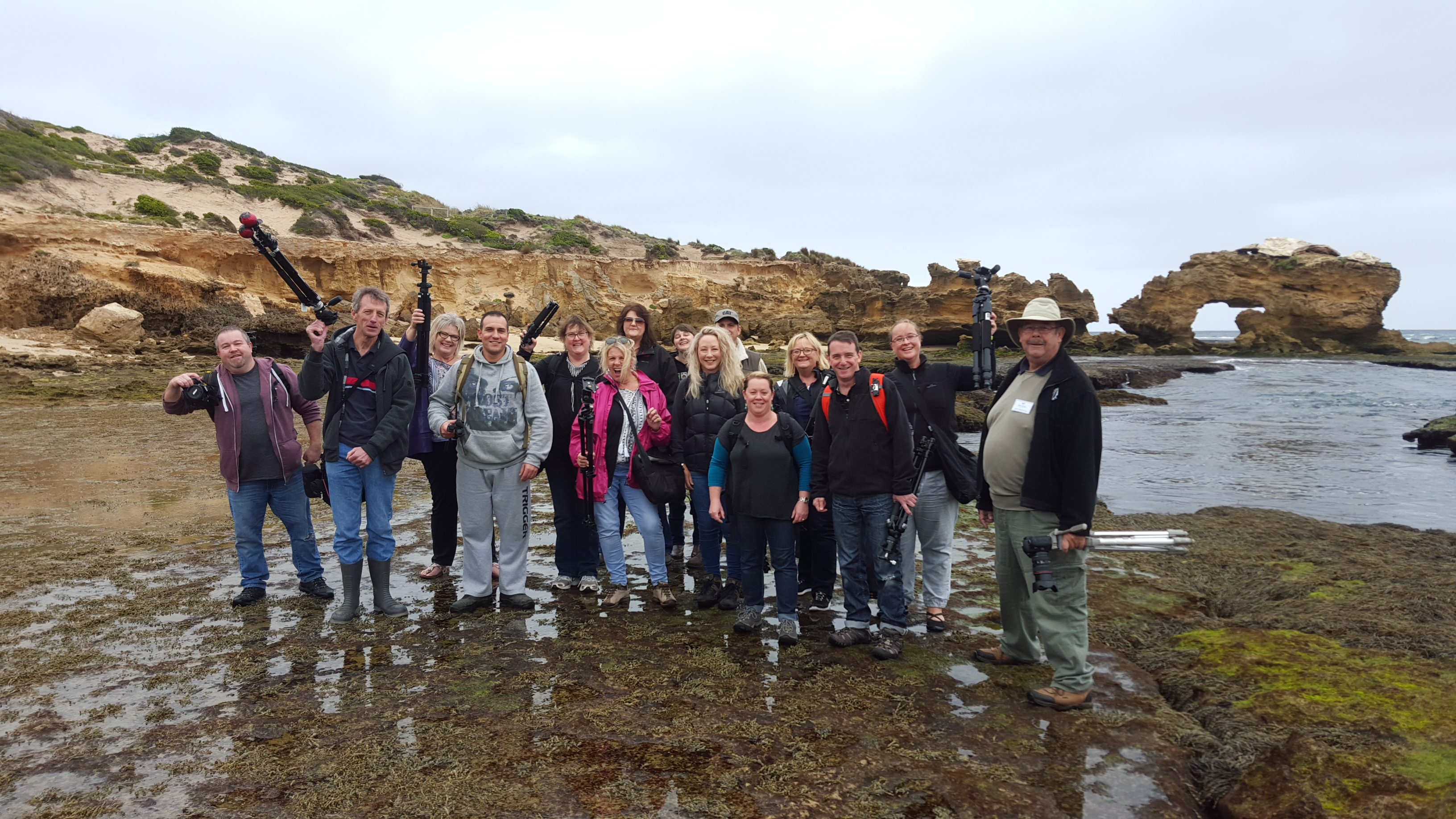 ND group excursion, bridgewater bay, jim worrall, jason cincotta, michael stringer, mornington peninsula, photo excursion
