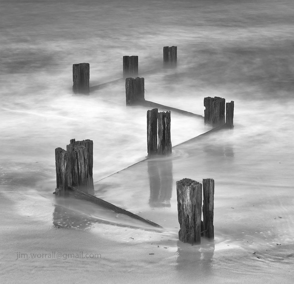 Jim Worrall, Mornington Peninsula, long exposure, black and white, seascape
