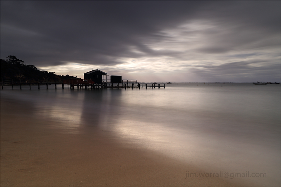 Shelley beach, Shelly beach, Portsea, Jim Worrall, Mornington Peninsula, jetty, pier, seascape, long exposure, port phillip bay