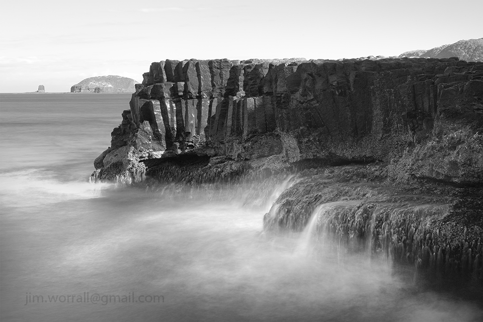 Bushrangers Bay, Mornington Peninsula, long exposure, ND400, Jim Worrall, black and white, seascape