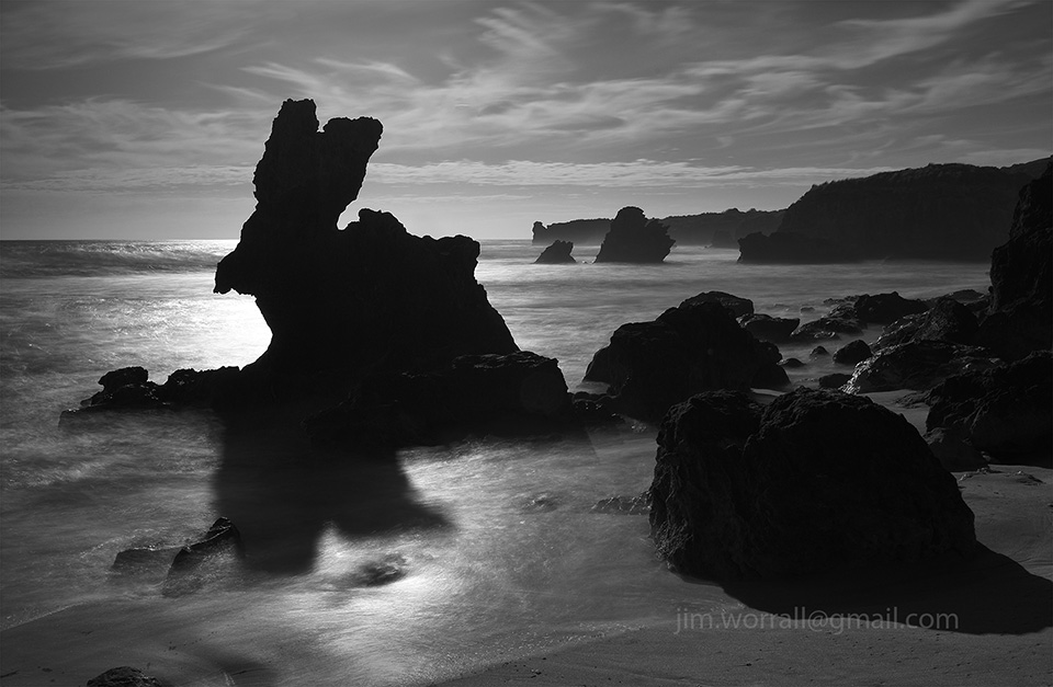 Bunny Rock, Rabbit Rock, Jim Worrall, Mornington Peninsula, Blairgowrie, seascape