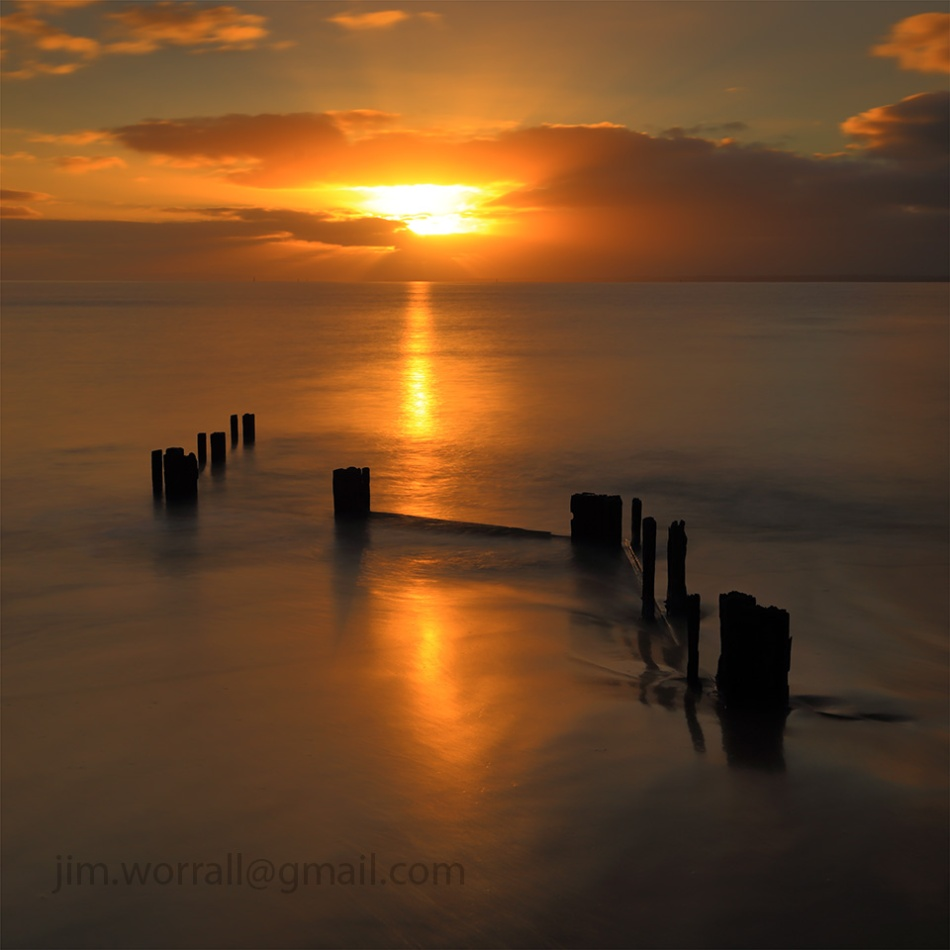 Balnarring Beach, Jim Worrall, Western Port Bay, sunrise, long exposure, seascape, groyne