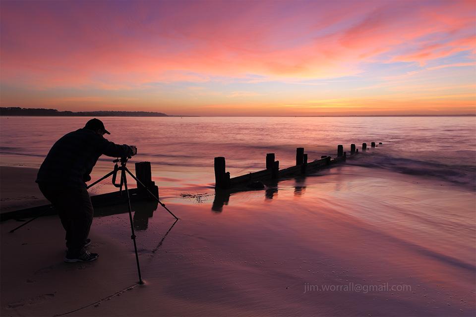 Balnarring Beach, Jason Cincotta, Jim Worrall, photographer, groyne, sunrise, Western Port Bay, Mornington Peninsula