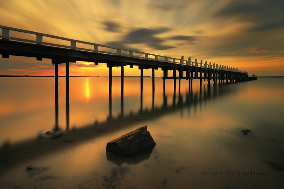 Grantville, jetty, beach, sunset, Jim Worrall, long exposure, nd filters, Western Port Bay