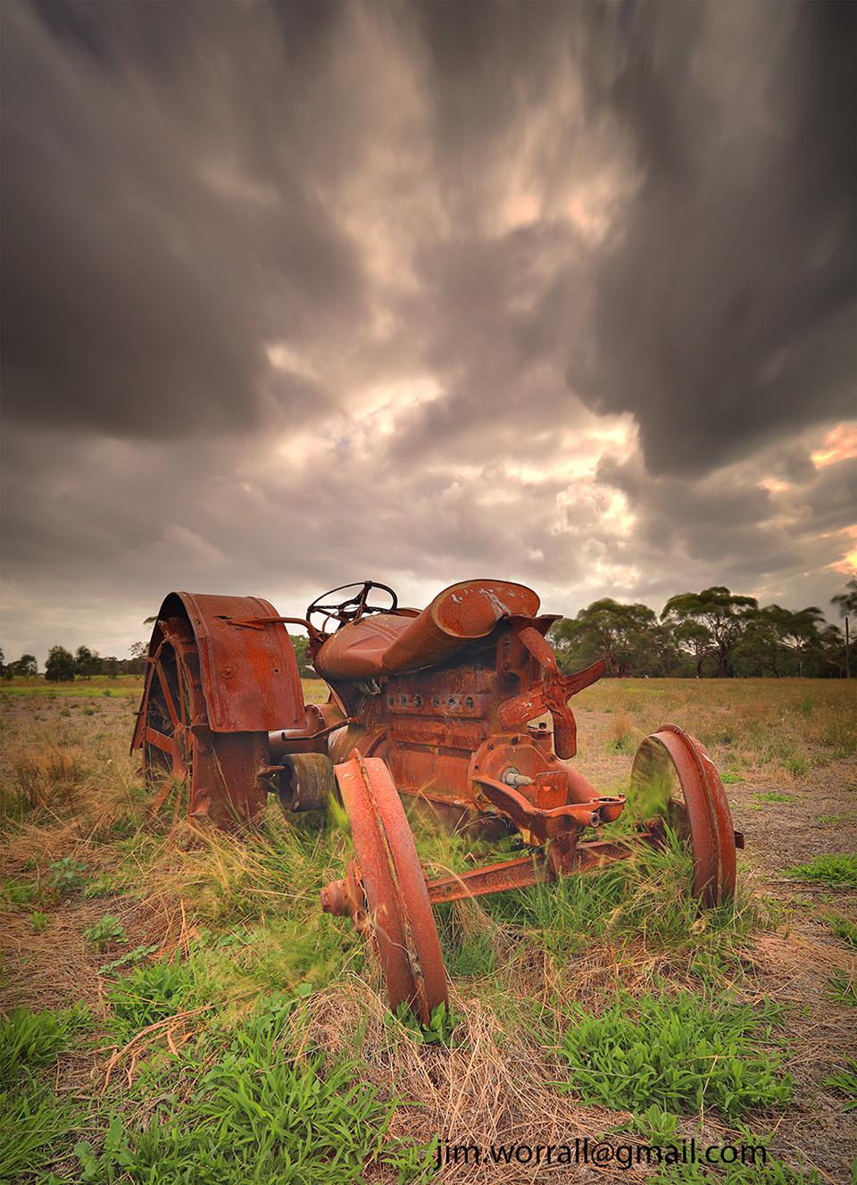 rusty tractor, the briars, mt martha, mornington peninsula, jim worrall