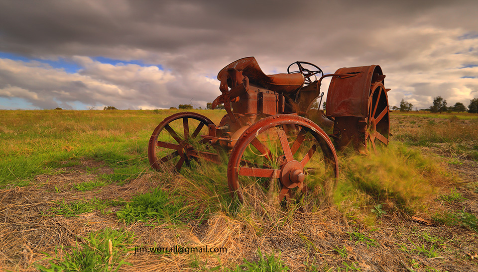rusty tractor, the briars, Mt Martha, Mornington Peninsula