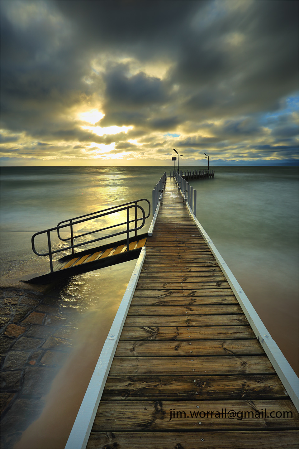 safety beach, jetty, jim worrall, port phillip bay, mornington peninsula, sunset, long exposure, nd filter