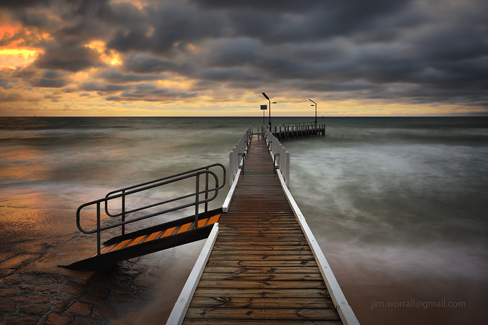 safety beach, jetty, jim worrall, Mornington Peninsula, port phillip bay, long exposure, nd filter, sunset