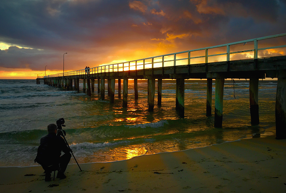 jim worrall, seaford pier, port phillip bay