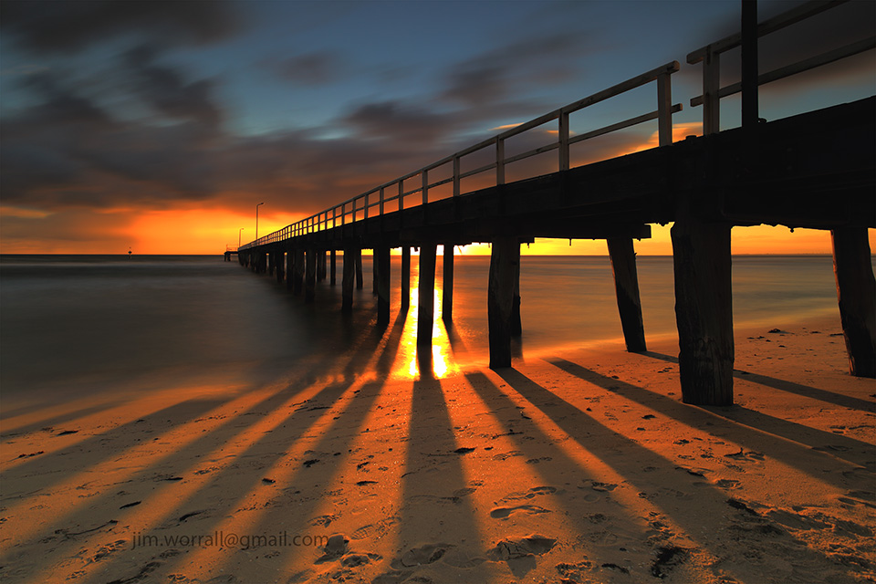 Jim Worrall, Seaford, pier, jetty, Port Phillip Bay, long exposure