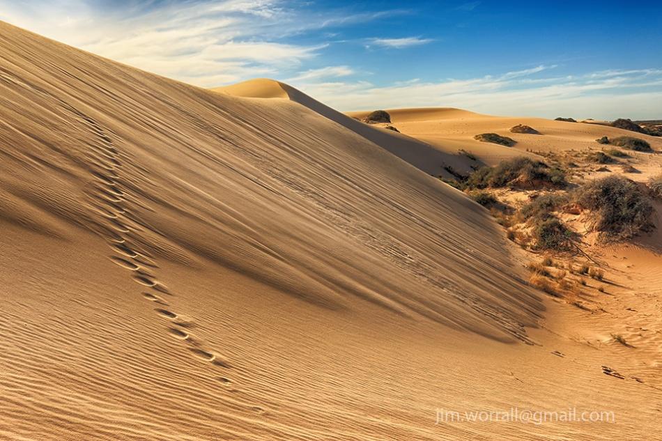 Jim Worrall, Mungo, N.S.W., desert