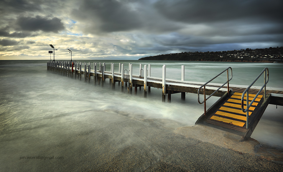 Jim Worrall, Mornington Peninsula, Safety Beach, jetty, pier, beach