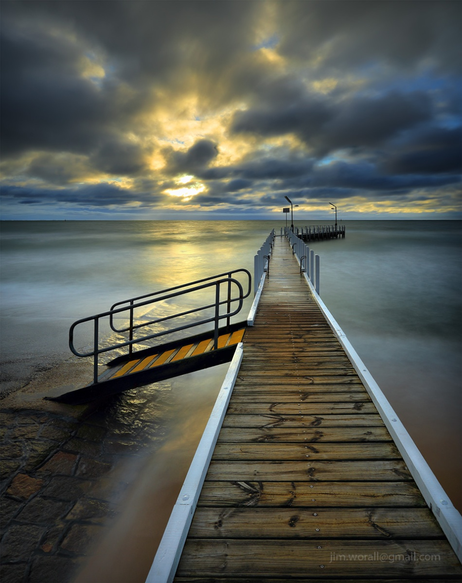 Jim Worrall, Safety Beach, Mornington Peninsula, sunset, jetty, pier, beach