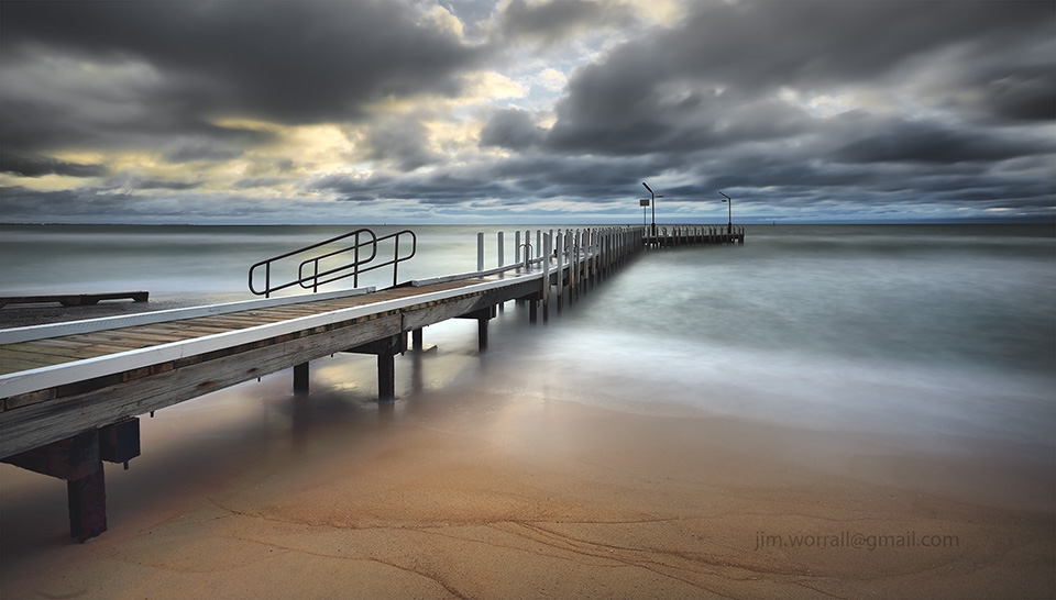Jim Worrall, Mornington Peninsula, Safety Beach, jetty, pier, sunset