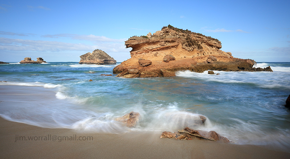 crocodile rock, sorrento, jim worrall, mornington peninsula, seascape, back beach