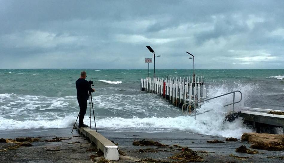 storm, port phillip bay, mornington peninsula, beach, jetty
