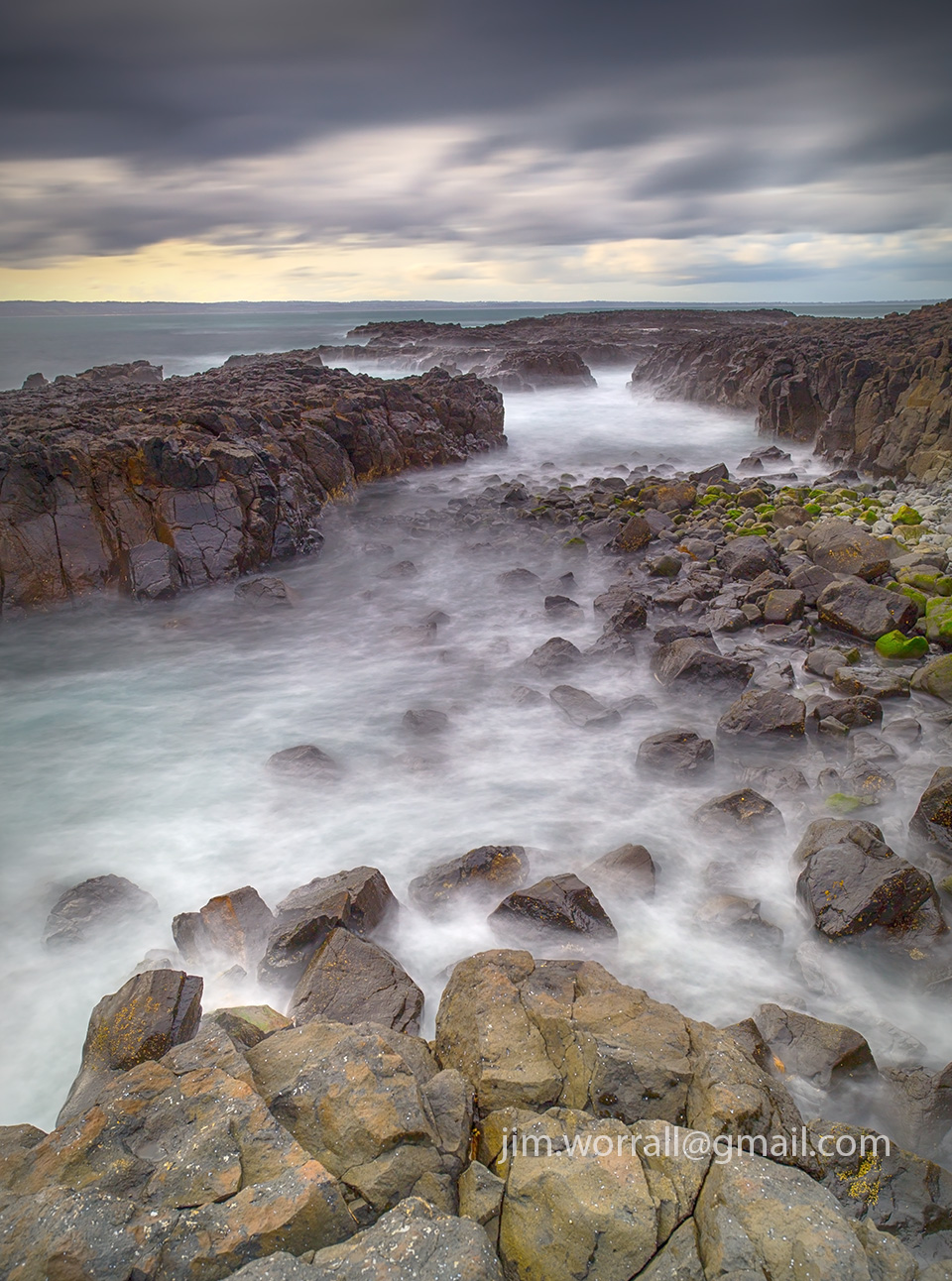 jim worrall, cowrie beach, phillip island, long exposure