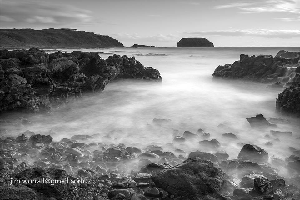 Jim Worrall, Cowrie Beach, The Nobbies, Phillip Island, long exposure, seascape