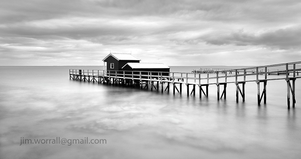 Jim Worrall, Mornington Peninsula, seascape, long exposure, jetty, beach