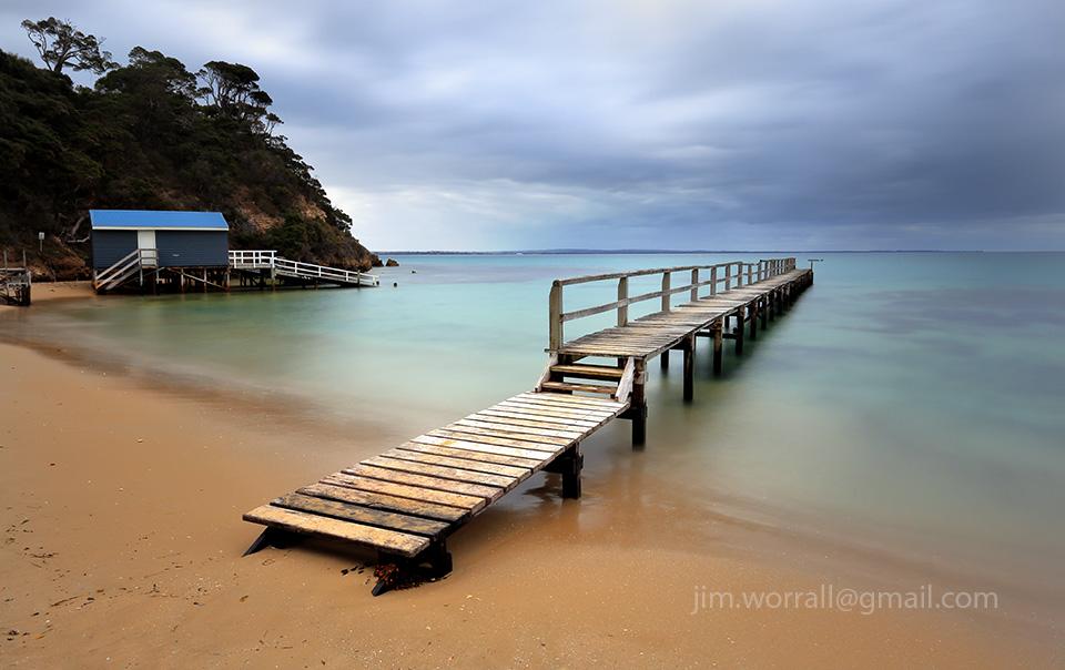 Jim Worrall, Mornington Peninsula, jetty, seascape, long exposure