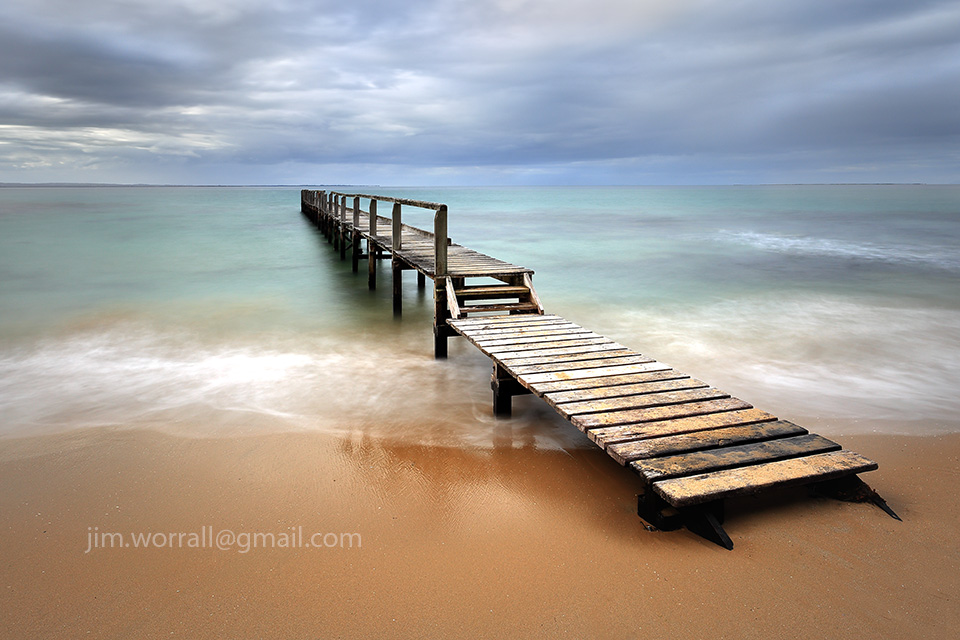 Jim Worrall, Mornington Peninsula, seascape, jetty, long exposure