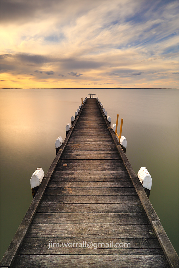 jim worrall, pier, Bass Coast, Wetern Port Bay, long exposure, sunset