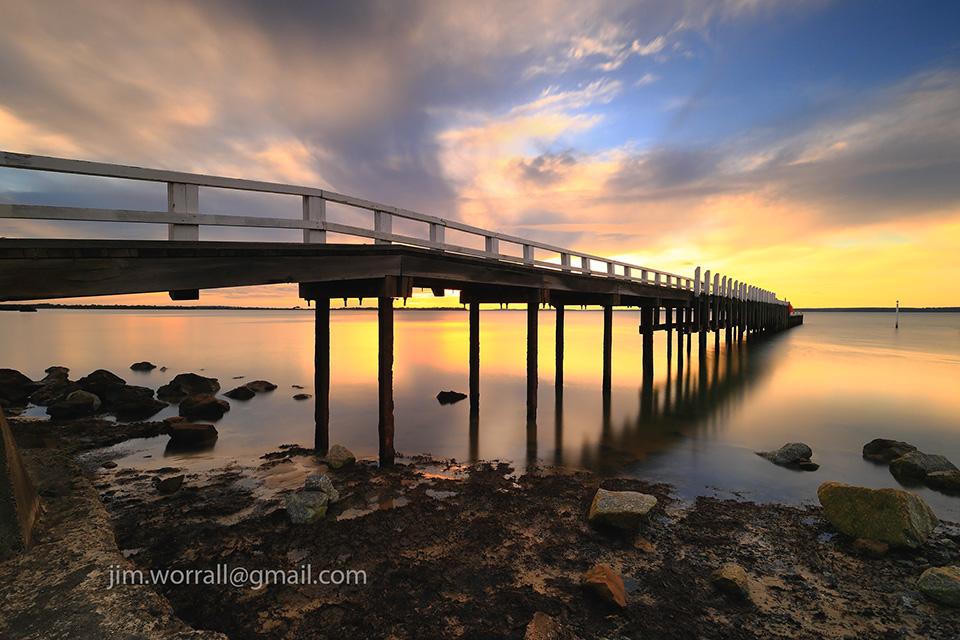 Jim Worrall, Bass Coast, Western Port Bay, seascape, long exposure, sunset