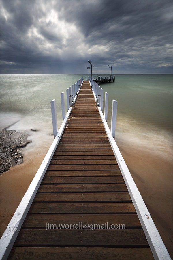 Jim Worrall, Mornington Peninsula, pier, Port Phillip Bay, long exposure, smooth water