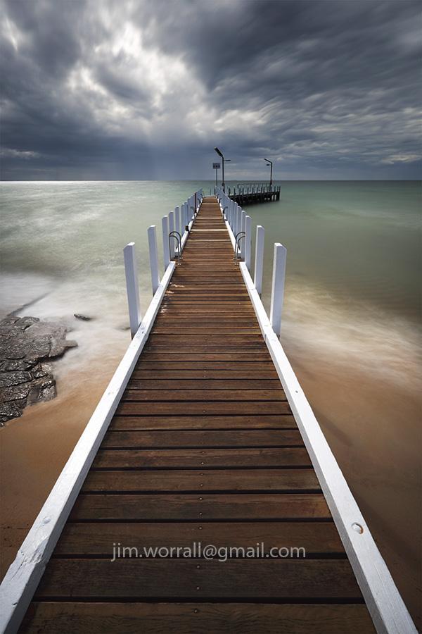 Jim Worrall, Mornington Peninsula, pier, Port Phillip Bay, long exposure, smooth water