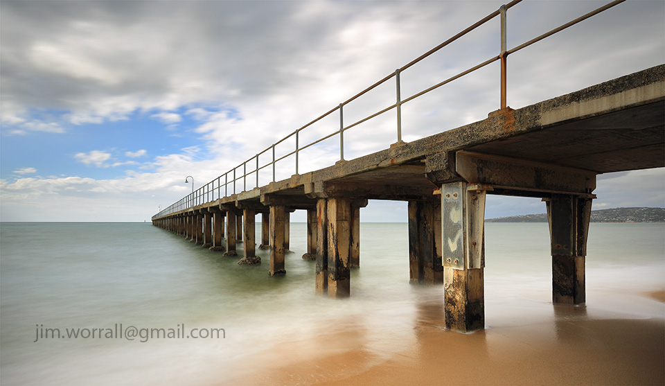 Jim Worrall, Dromana, Mornington Peninsula, Port Phillip Bay, jetty, pier, long exposure