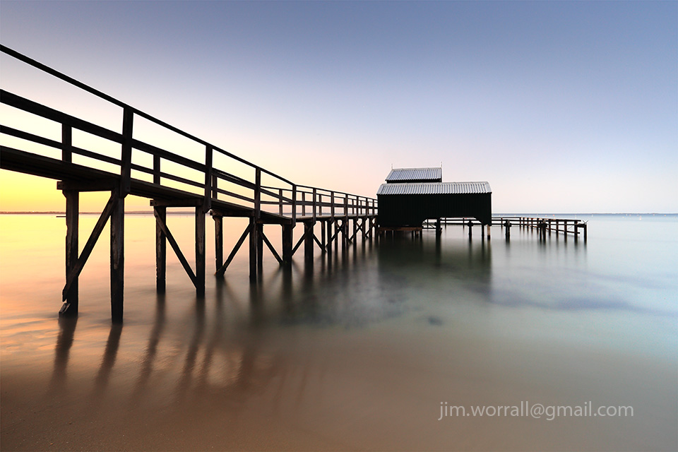 jetty, pier, Jim Worrall, Mornington Peninsula, Port Phillip Bay