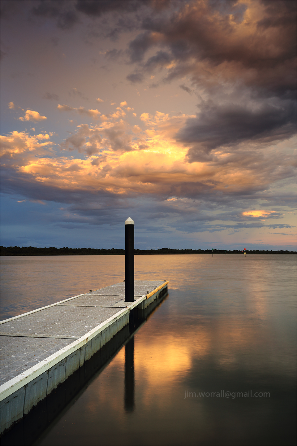 Jim Worrall, Blind Bight, western port bay, pontoon, sunset, seascape