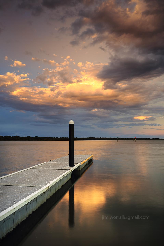 Jim Worrall, Blind Bight, western port bay, pontoon, sunset, seascape