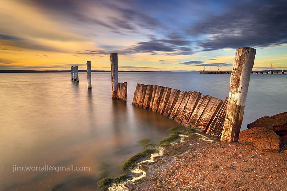 jim worrall, Corinella, barge, seascape, long exposure, Western Port Bay