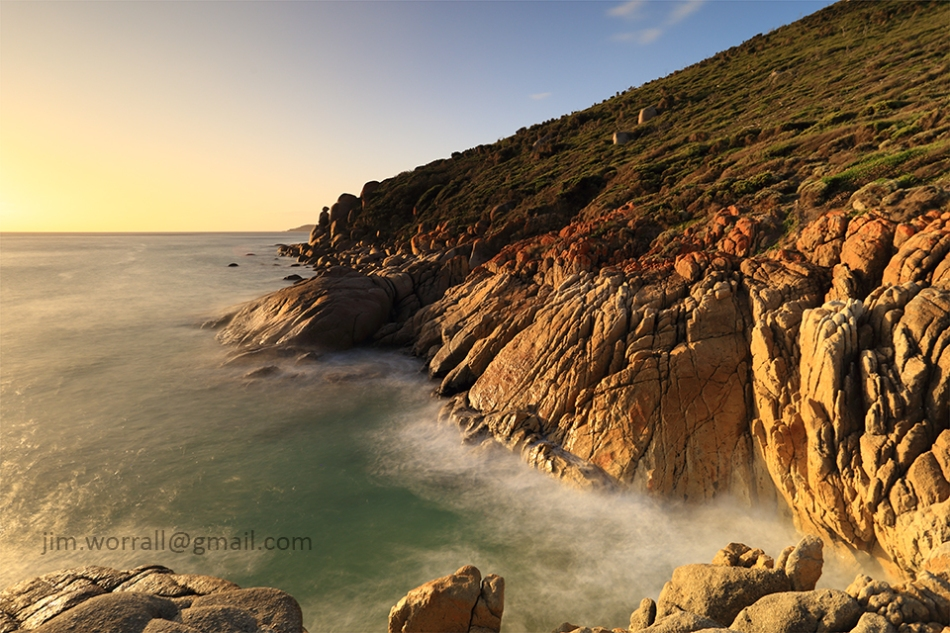 wilsons promontory, jim worrall, seascape, sunset, long exposure, cliffs