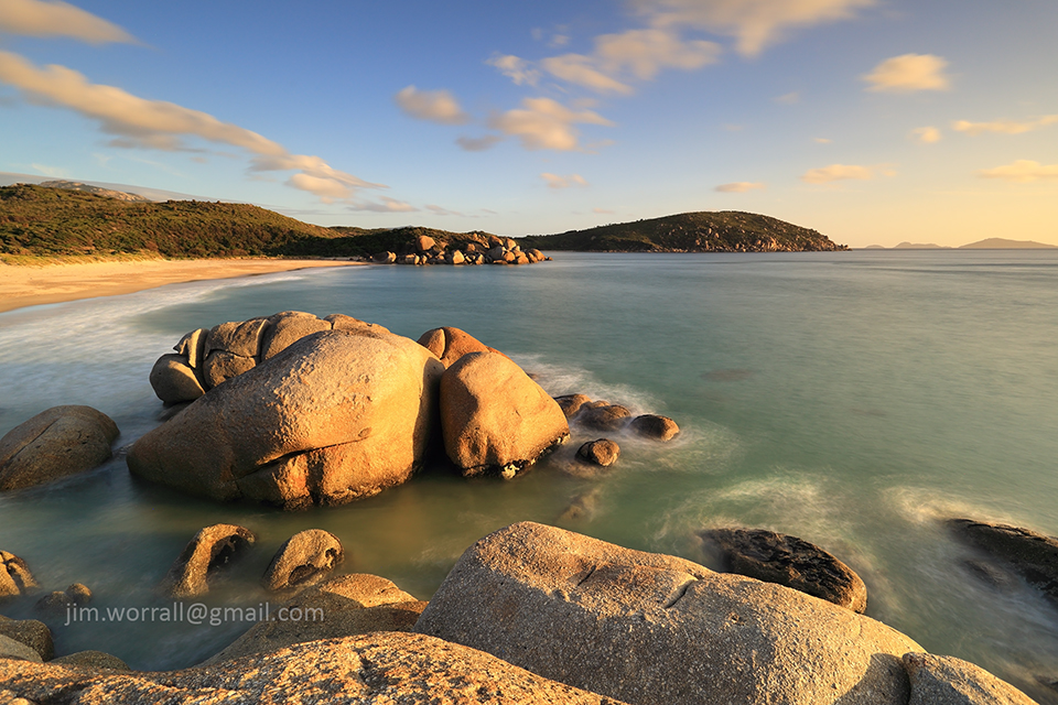 jim worrall, whisky bay, wilsons promontory, seascape, long exposure